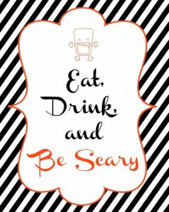 Be Scary Sign