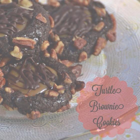 Turtle Brownie Cookies