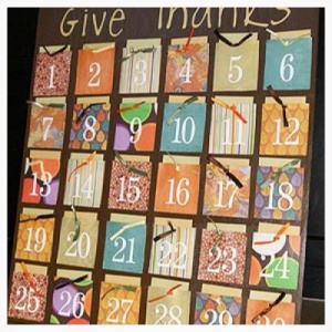 Thanksgiving Countdown Gratitude Calendar