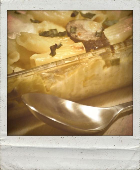 Kielbasa and Apple Pasta Bake