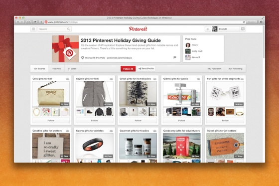 2013 Pinterest Holiday Giving Guide