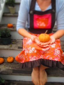 Adult Apron for Fall - Autumn