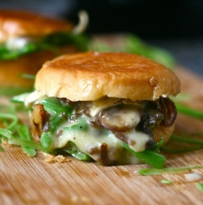 Brie & Green Bean Casserole Grilled Cheese Sliders