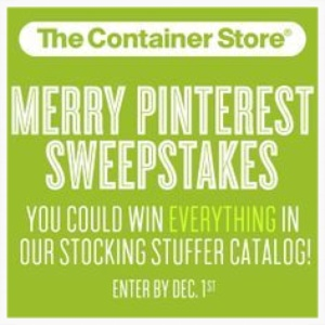 The Container Store Merry Pinterest Sweepstakes