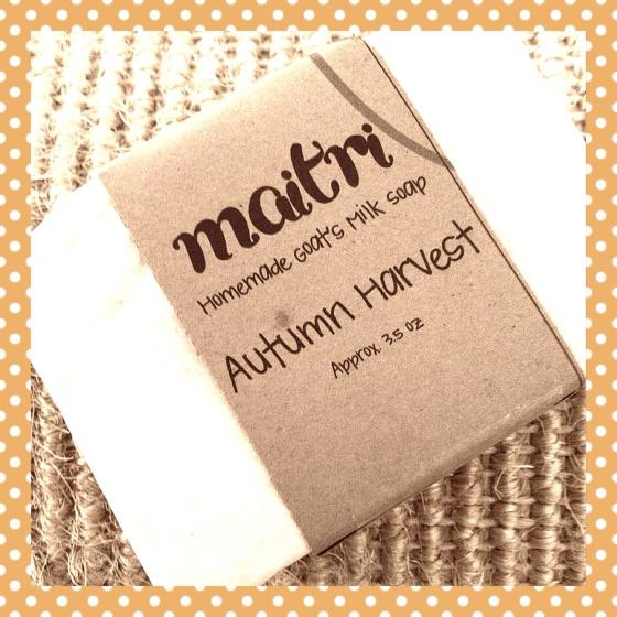 Autumn Harvest Homemade Goat's Milk Soap - Maitri