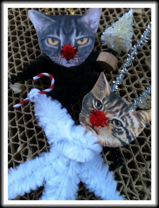Victorian Christmas Cat Ornaments
