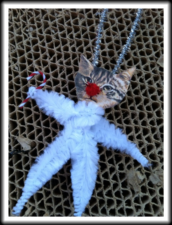Victorian Christmas Cat Ornament
