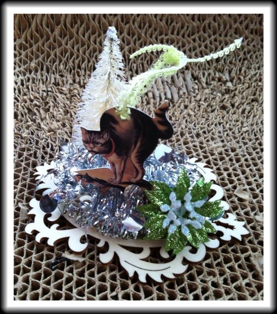 Victorian Christmas Cat Ornament