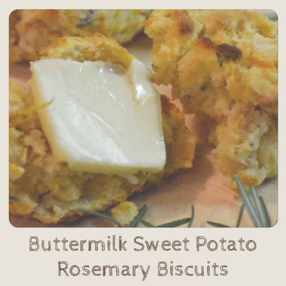 Buttermilk Sweet Potato Rosemary Biscuits