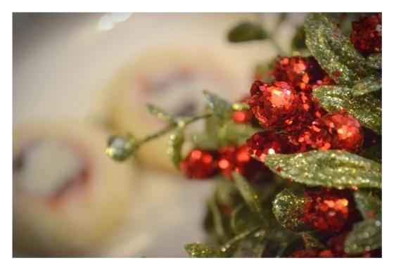 Glittery Mistletoe