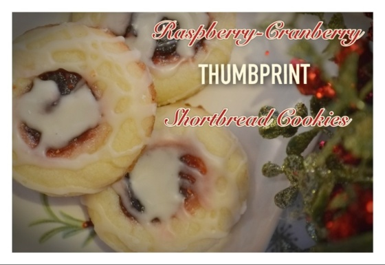 Raspberry-Cranberry Thumbprint Shortbread Cookies