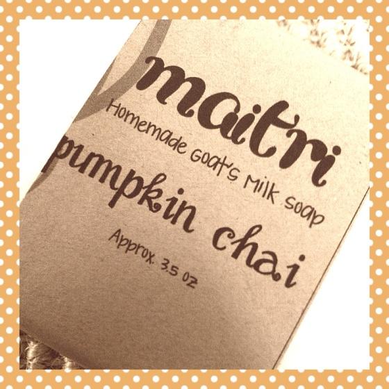 Pumpkin Chai Homemade Goat's Milk Soap - Maitri