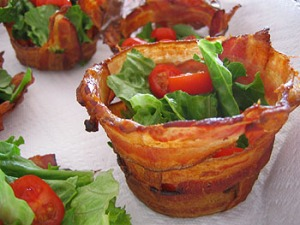 Bacon Cups with Salad