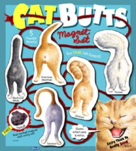 Cat Butts Magnet Set - Amazon