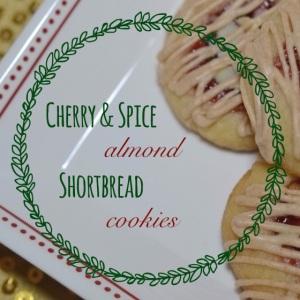Cherry & Spice Almond Shortbread Cookies