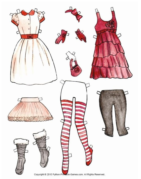 Christmas Paper Dolls Sheet 2