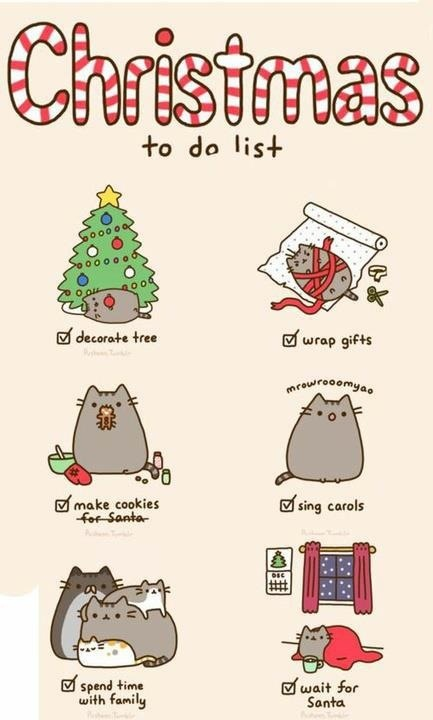Christmas To Do List - Pusheen