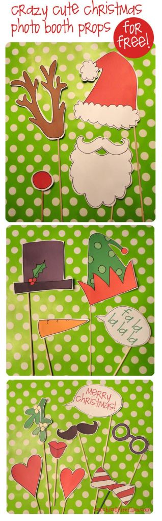 Crazy Cute Christmas Photo Booth Props