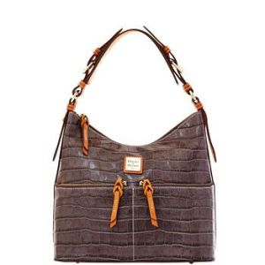 Croco North-South Zipper Sac in Cognac - Dooney & Bourke