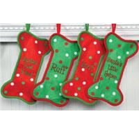 Dennis East Felt Bone-Shaped Holiday Stockings