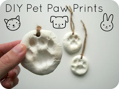 DIY Pet Paw Print Ornaments