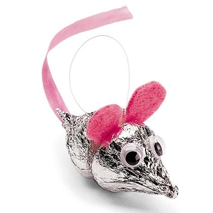 Hershey Kiss Mice Ornaments