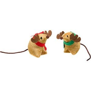 Holiday Antler Mice Cat Toys