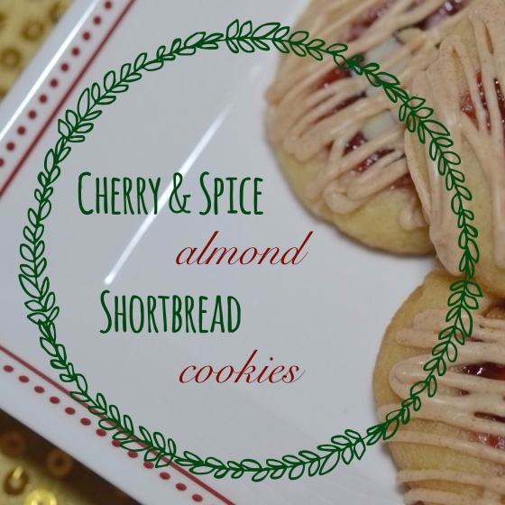 Cherry & Spice Almond Shortbread Cookies
