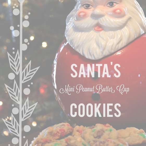 Santa's Mini Peanut Butter Cup Cookies