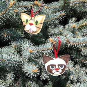 Internet Cat Christmas Ornaments - Grumpy Cat & Lil Bub