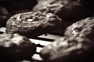 Maple Glazed Bourbon Bacon and Pecan Cookies