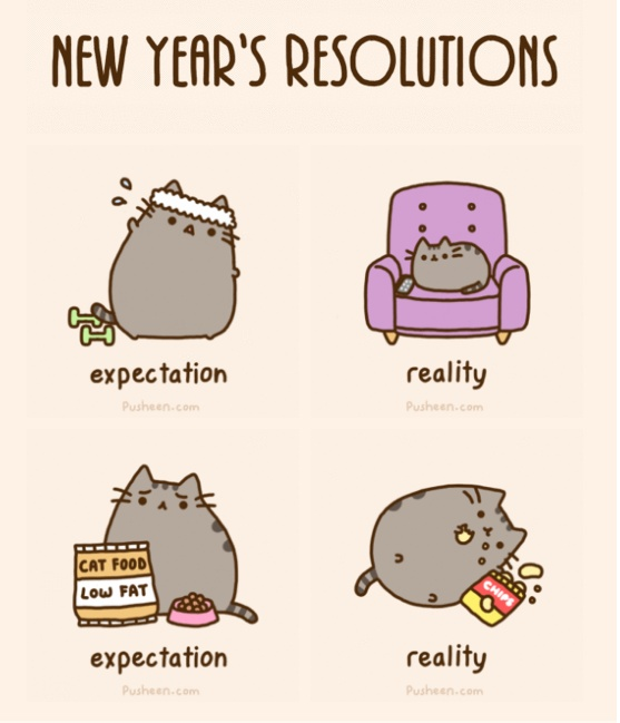 New Year's Resolutions - Pusheen