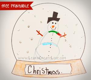 Printable Snow Globe Craft
