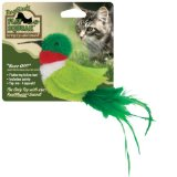 Real Birds Buzz Off Squeaking Cat Toy