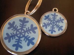 Snowflake Winter ID Tag