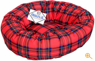 Tartan Design Plush Bed