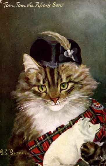 Tartan Kitty with Pig
