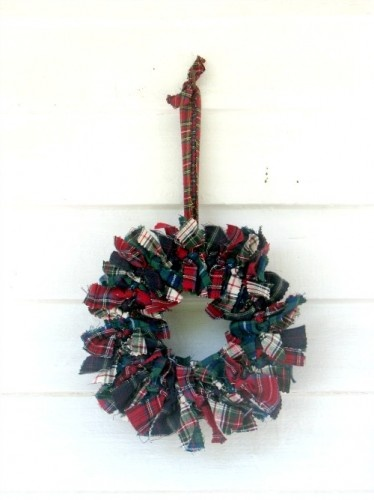 Winter Tartan Wreath