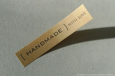 Handmade with Love Label Stickers