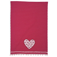 Heart XOXO Vintage-Inspired Kitchen Towel