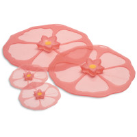 Hibiscus Pink Silicone Lids