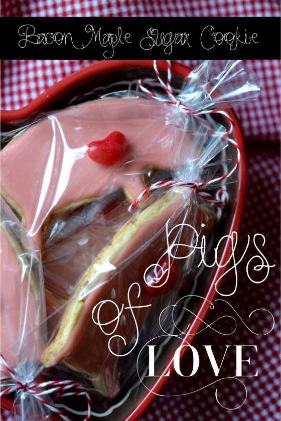 Bacon Maple Sugar Cookie Pigs of Love