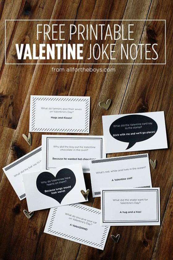 Valentine Joke Notes