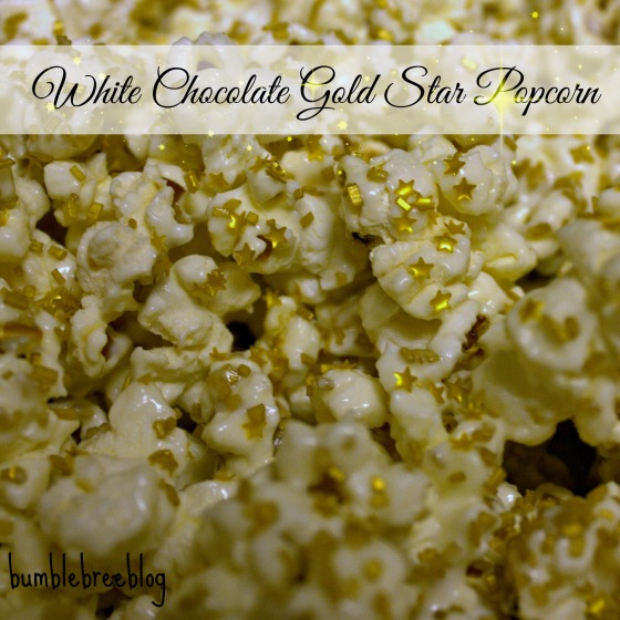 White Chocolate Gold Star Popcorn