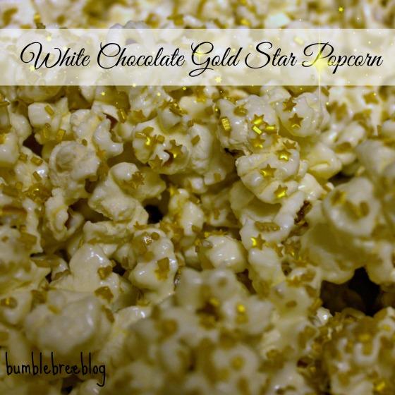 White Chocolate Gold Star Popcorn