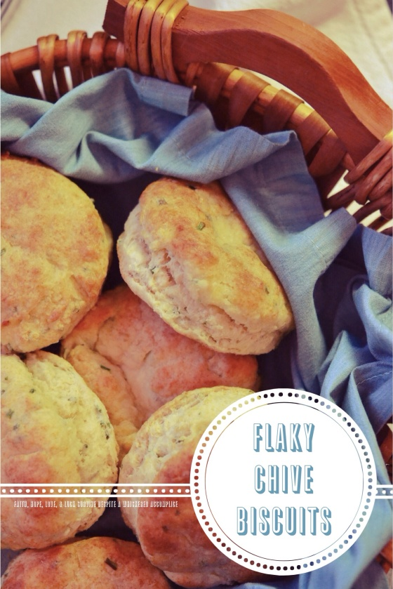 Flaky Chive Biscuits