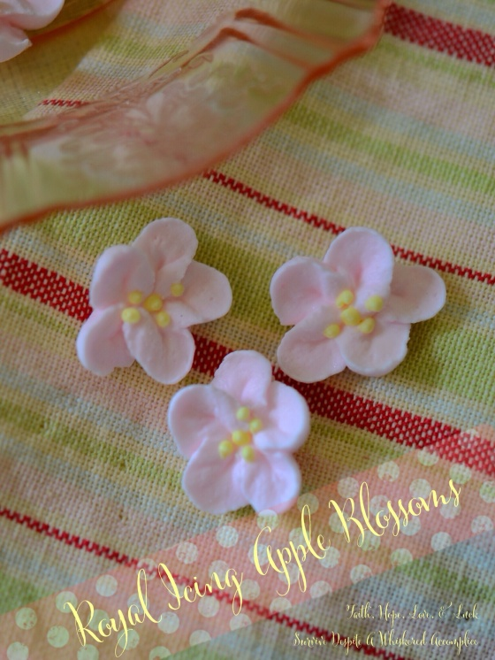 Royal Icing Apple Blossoms