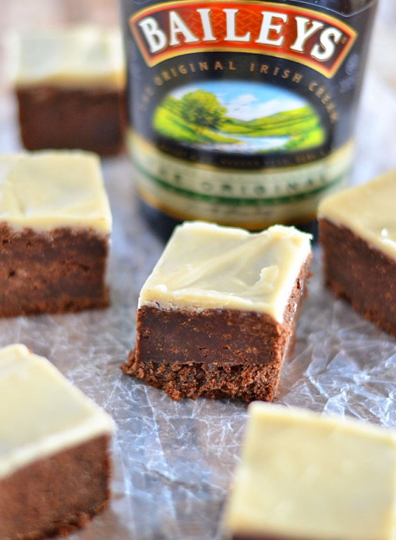 Irish Cream Brownies with Brown Butter Icing