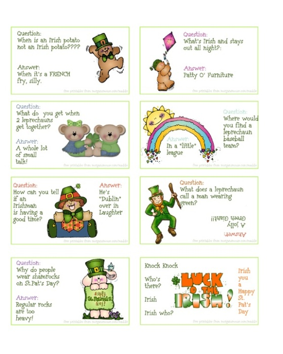 St. Pat's Day Free Printables