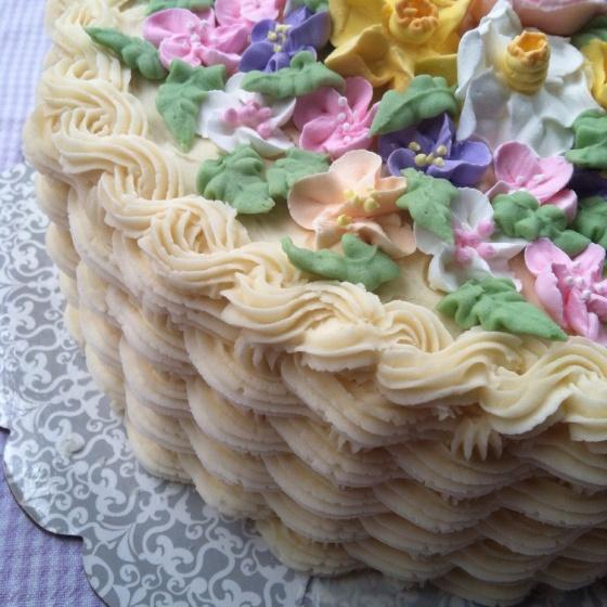 Lemon Blueberry Cake with Vanilla Buttercream